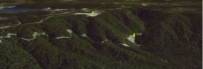 Google Earth View of Fossey Mine - Note the position of the Portal