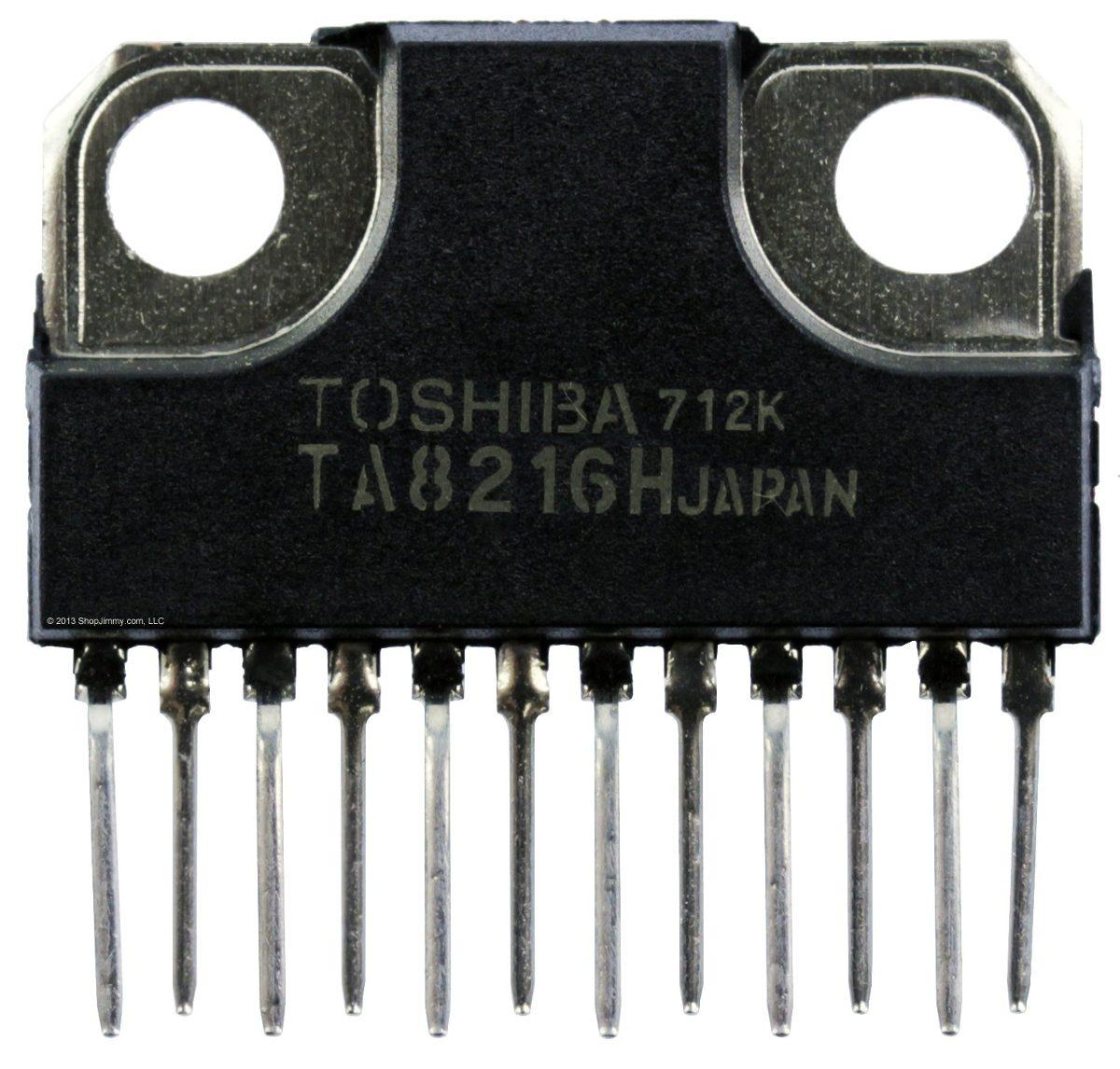 Integrated Circuits Ics 4000 Series Coastal Electronics 12wamplifiercircuitusing741opamp Ta8216h Ic